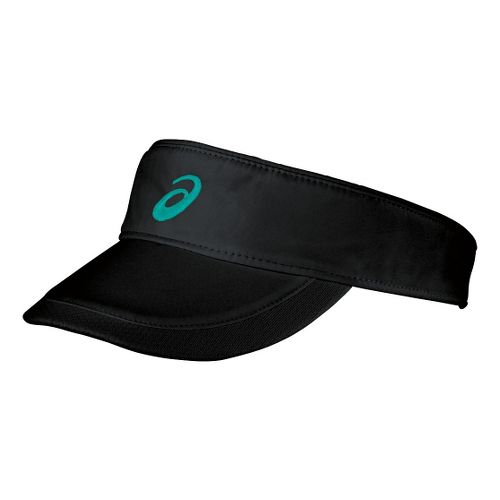 ASICS Straight Sets Visor Headwear - Black/Green Jade