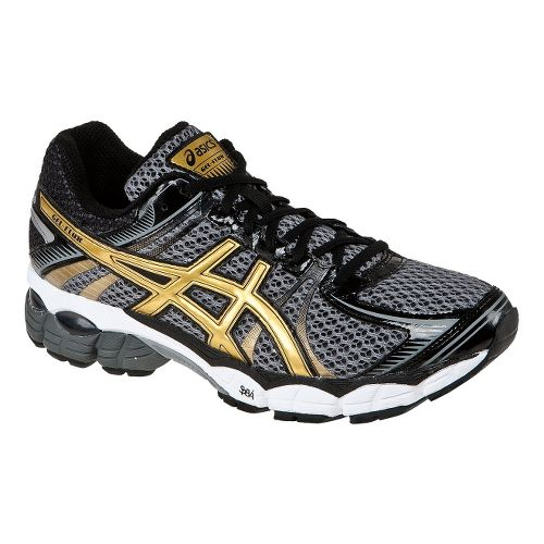 Mens ASICS GEL-Flux Running Shoe - Storm/Gold 14