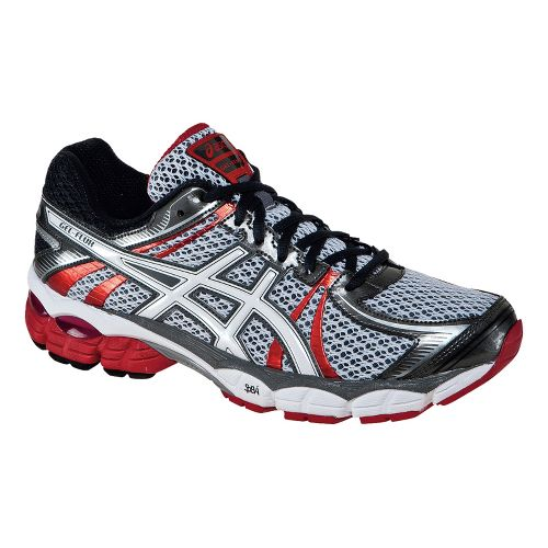 Mens ASICS GEL-Flux Running Shoe - Snow/Red Pepper 12.5
