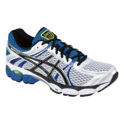 Mens ASICS GEL-Flux Running Shoe - White/Royal 12.5