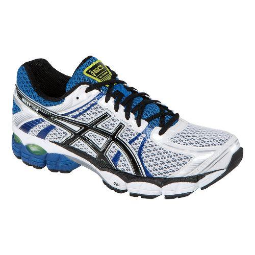 Mens ASICS GEL-Flux Running Shoe - White/Royal 8.5