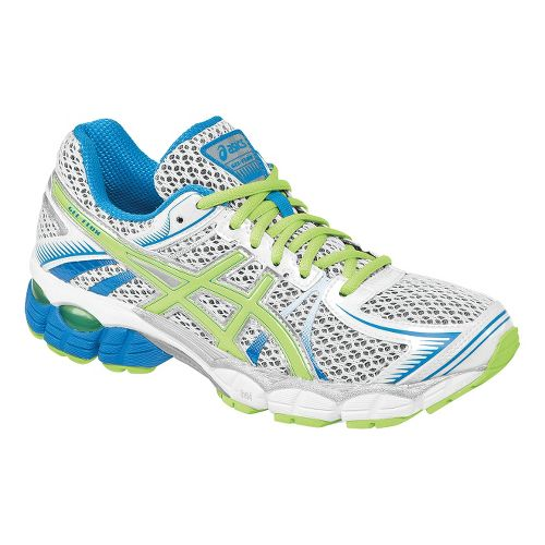 Womens ASICS GEL-Flux Running Shoe - White/Sharp Green 13
