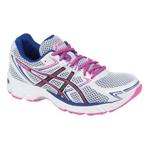 Womens ASICS GEL-Equation 7 Running Shoe - White/Hot Pink 7.5