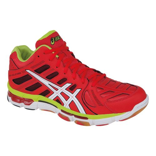 Mens ASICS GEL-Volleycross Revolution MT Court Shoe - Blood Orange/White 10.5