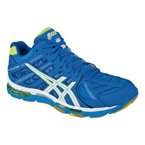 Mens ASICS GEL-Volleycross Revolution MT Court Shoe - Imperial Blue/White 8.5