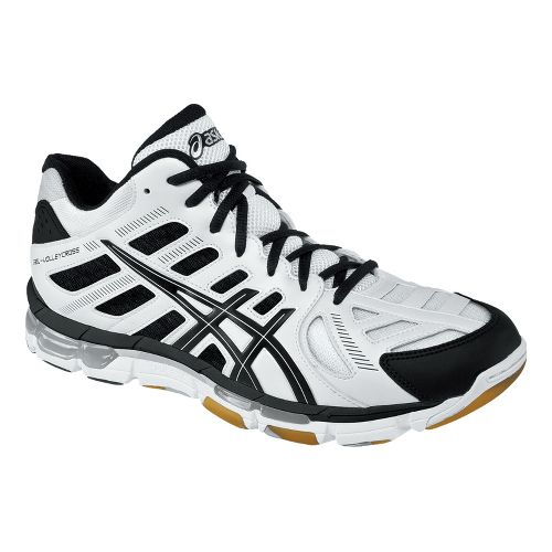 Mens ASICS GEL-Volleycross Revolution MT Court Shoe - White/Black 8.5