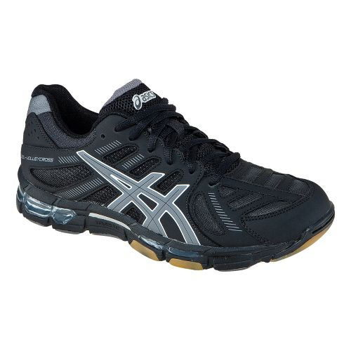 Womens ASICS GEL-Volleycross Revolution Court Shoe - Black/Gunmetal 6.5