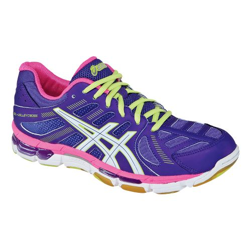 Womens ASICS GEL-Volleycross Revolution Court Shoe - Grape/White 6.5