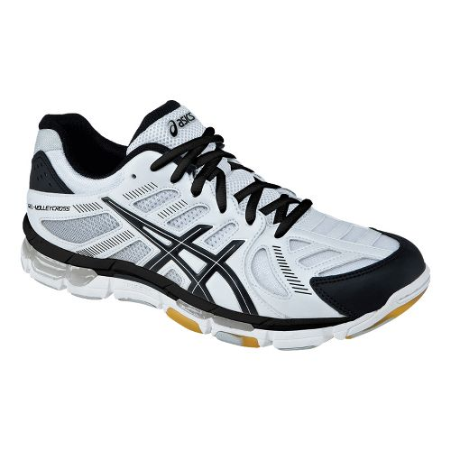 Womens ASICS GEL-Volleycross Revolution Court Shoe - White/Black 11.5