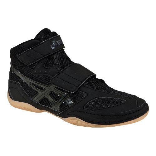 Kids ASICS Matflex 4 GS Wrestling Shoe - Black/Onyx 13