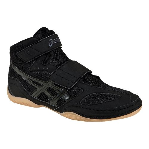 Kids ASICS Matflex 4 GS Wrestling Shoe - Black/Onyx 3.5