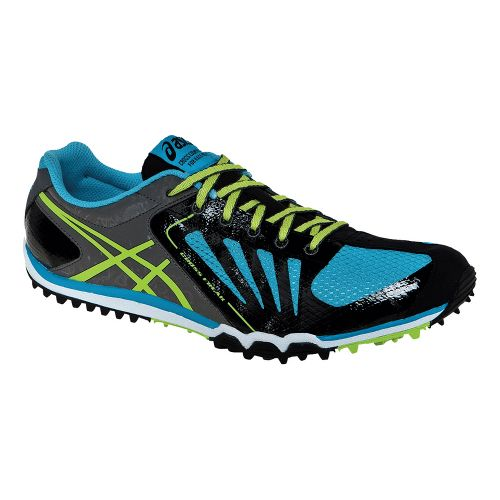 Mens ASICS Cross Freak Cross Country Shoe - Black/Lime 7.5