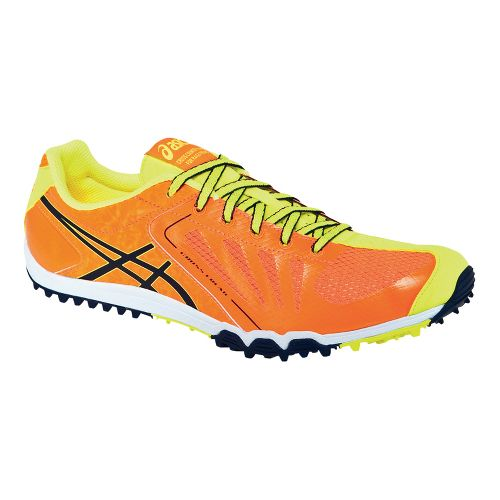 Mens ASICS Cross Freak Cross Country Shoe - Orange Flame/Ink 12.5