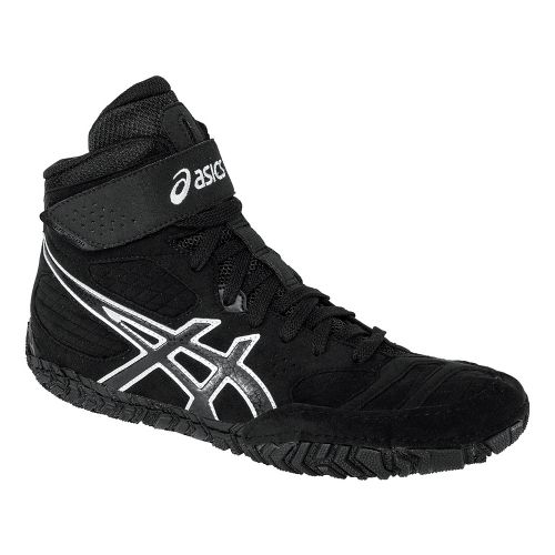 Mens ASICS Aggressor 2 Wrestling Shoe - Black/Onyx 10