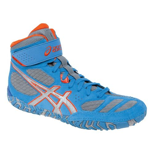Mens ASICS Aggressor 2 Wrestling Shoe - Dusty Blue/Silver 10.5