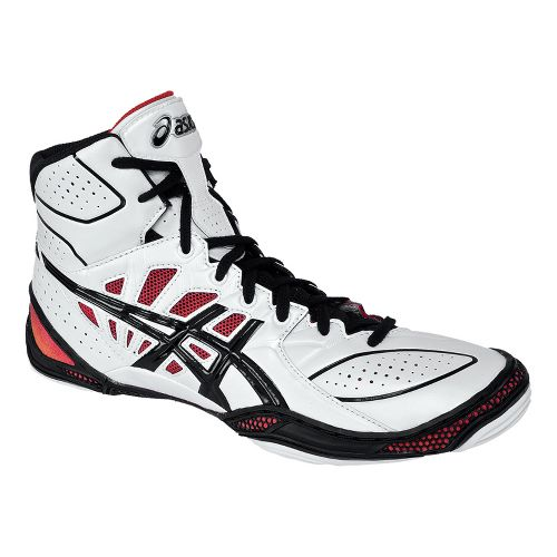 Mens ASICS Dan Gable Ultimate 3 Wrestling Shoe - White/Black 13