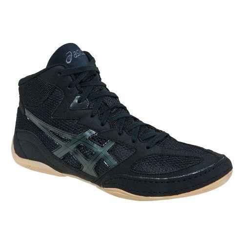 Mens ASICS Matflex 4 Wrestling Shoe - Black/Onyx 13