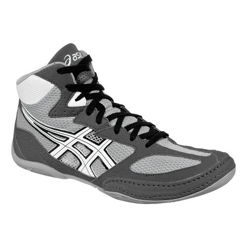 Mens ASICS Matflex 4 Wrestling Shoe - Graphite/White 10.5