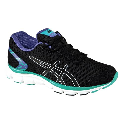 Womens ASICS GEL-Frequency 2 Walking Shoe - Black/Emerald 6.5