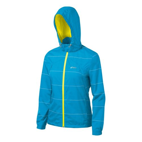 Womens ASICS Storm Shelter Running Jackets - Atomic Blue M