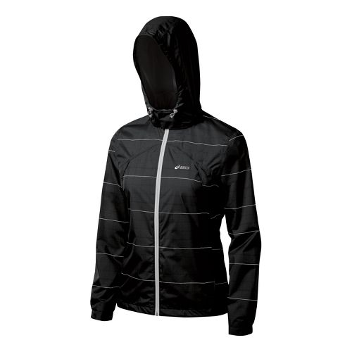 Womens ASICS Storm Shelter Running Jackets - Black XL
