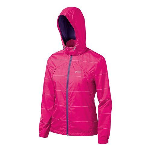 Womens ASICS Storm Shelter Running Jackets - Magenta L