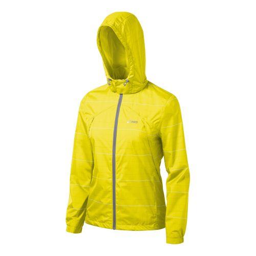 Womens ASICS Storm Shelter Running Jackets - Neon S