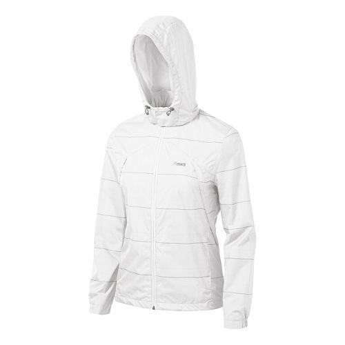 Womens ASICS Storm Shelter Running Jackets - White XL