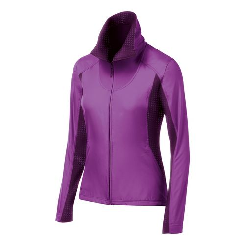Womens ASICS Thermo Windblocker Running Jackets - Purple/Plume L