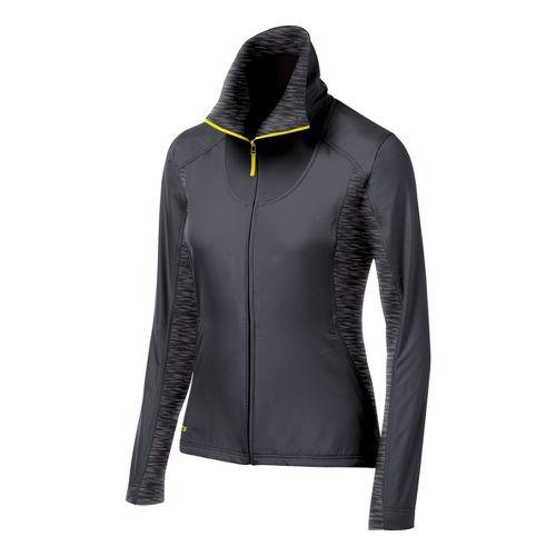 Womens ASICS Thermo Windblocker Running Jackets - Steel/Heather Iron M