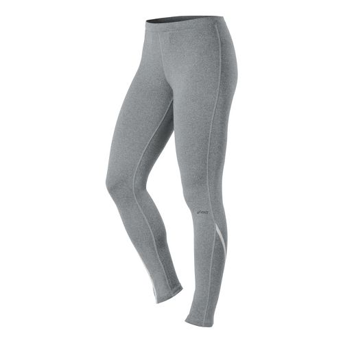Womens ASICS Thermopolis LT Fitted Tights - Heather Iron M