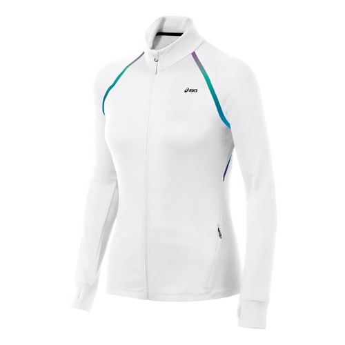 Womens ASICS Thermopolis LT Full Zip Running Jackets - White XS
