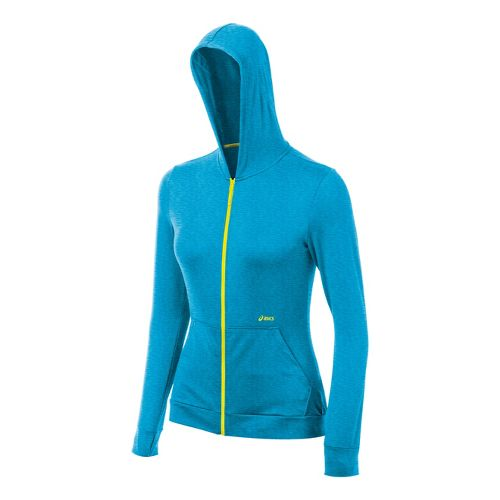 Womens ASICS Thermopolis LT Hoody Running Jackets - Atomic Blue Heather XL