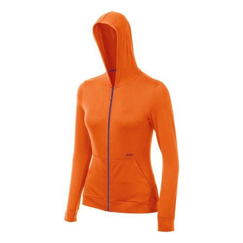 Womens ASICS Thermopolis LT Hoody Running Jackets - Orange Burst XS