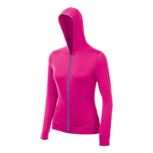 Womens ASICS Thermopolis LT Hoody Running Jackets - PinkGlo M
