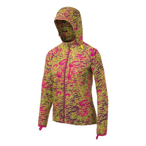 Womens ASICS FujiTrail Packable Running Jackets - Pink Scatter L