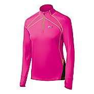 Womens ASICS FujiTrail Long Sleeve 1/2 Zip Technical Tops