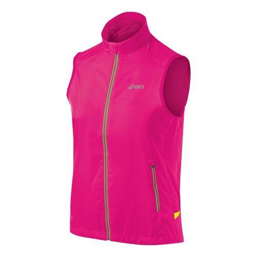 Womens ASICS FujiTrail Running Vests - PinkGlo XL