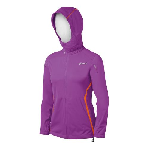 Womens ASICS ARD Running Jackets - Purple Pop S
