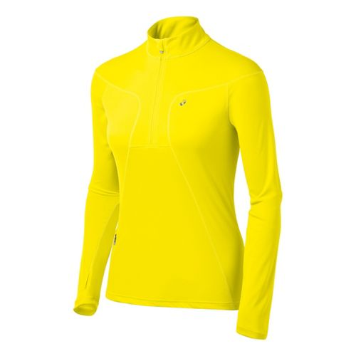 Womens ASICS Favorite Long Sleeve 1/2 Zip Technical Tops - Vivid S