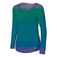Womens ASICS PR Slub Long Sleeve No Zip Technical Tops