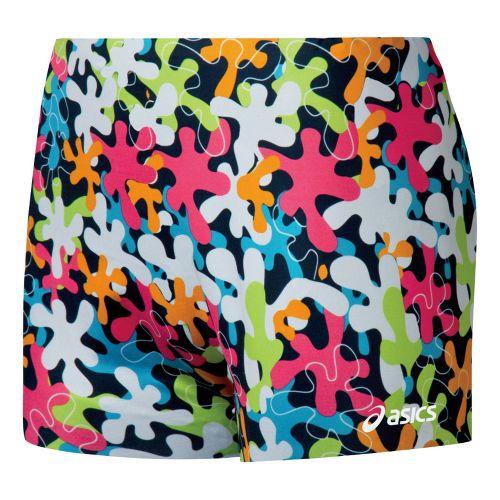 Womens ASICS I'm Reversible 2-in-1 Shorts - Black/White XL