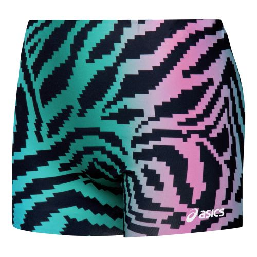 Womens ASICS Pixel Skin Fitted Shorts - Forest/Black M
