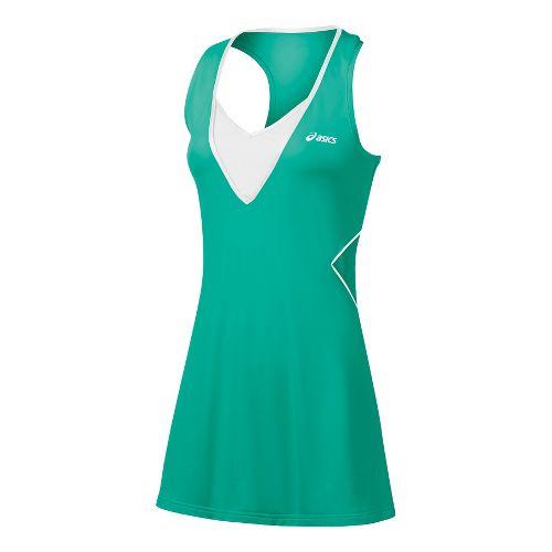 Womens ASICS Racket Dress Skirt Fitness Skirts - Green Jade M