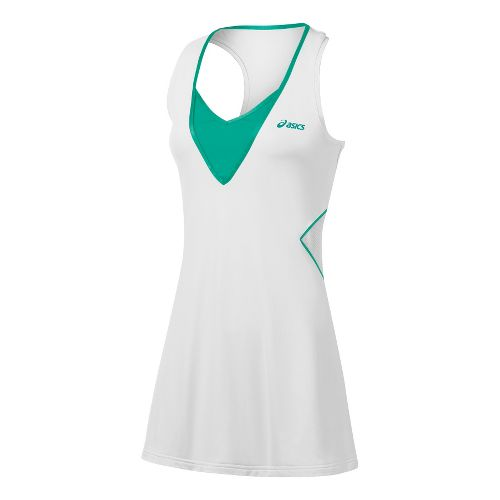 Womens ASICS Racket Dress Skirt Fitness Skirts - Real White L