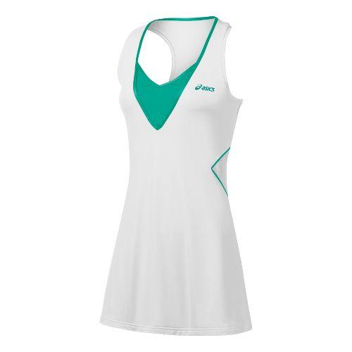 Womens ASICS Racket Dress Skirt Fitness Skirts - Real White S