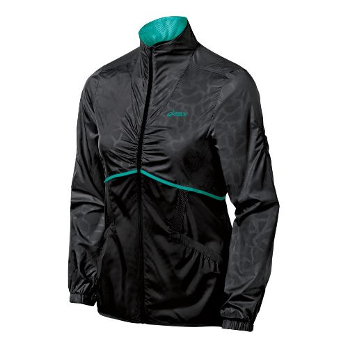 Womens ASICS Racket Running Jackets - Performance Black XS