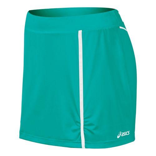 Womens ASICS Racket Skort Fitness Skirts - Green Jade M