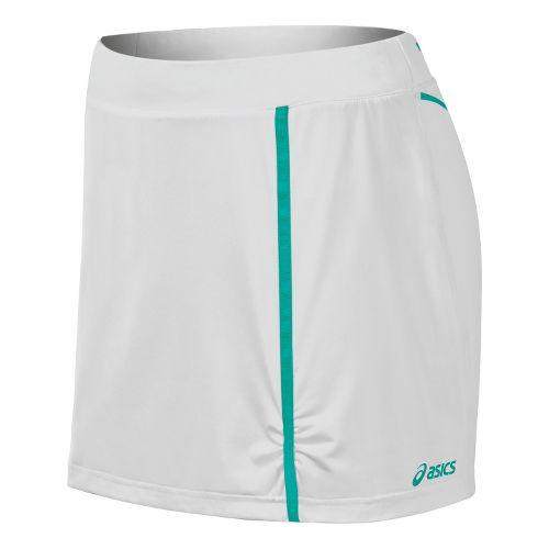 Womens ASICS Racket Skort Fitness Skirts - Real White XL