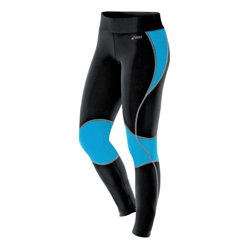 Womens ASICS Lite-Show Fitted Tights - Atomic Blue S